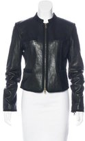 Diane von Furstenberg Leather Roccoco Biker Jacket