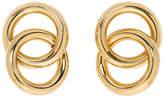 Laura Lombardi Gold Interlock Earrings