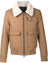 Ami Alexandre Mattiussi shearling collar jacket