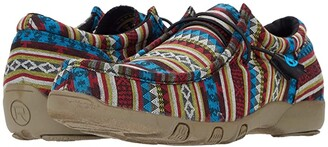 Roper Chillin Aztec (Blue Aztec Stripe Fabric) Women's Boots