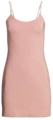 Cushnie Embellished Strap Mini Dress