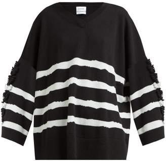 Barrie Fancy Coast Striped Cashmere Sweater - Womens - Black