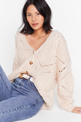 Nasty Gal Womens A Soft Touch Button-Down Relaxed Cardigan - Soft Pink