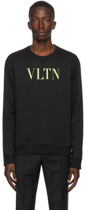 Valentino Black and Yellow VLTN Sweatshirt