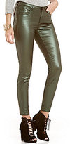 GB Coated Button-Front Leggings