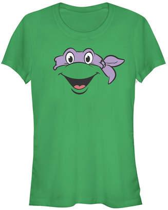 Fifth Sun Teenage Mutant Ninja Turtles Women Donatello Big Face Costume Short Sleeve Tee Shirt