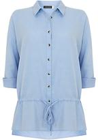 Mint Velvet Drawstring Detail Shirt, Blue