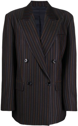 Acne Studios Double-Breasted Striped Jacket