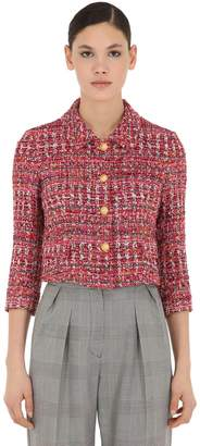 Tagliatore Cropped Lurex Tweed Jacket