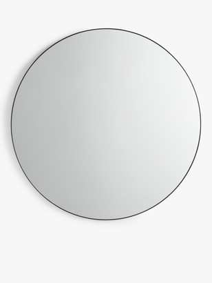 John Lewis & Partners Scandi Metal Round Mirror, 120cm, Black