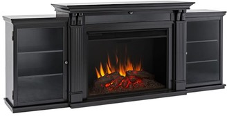 """Pottery Barn Real Flame 83.75"""" Tracey Grand Electric Fireplace Media Cabinet"""