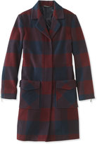 L.L. Bean Signature Ashland Wool Coat, Check