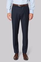 Hardy Amies Tailored Fit Navy Birdseye Pants