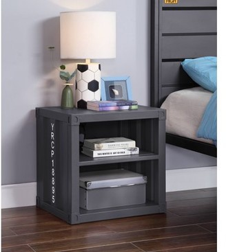 ACME Furniture Acme Cargo Container Style Metal Frame Nightstand, Multiple Colors