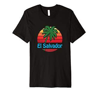 Hello From El Salvador Vintage Palm Tree Beach Shirt