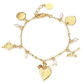 Thumbnail for your product : Gas Bijoux Foliga 24K Goldplated & 10MM Mother-Of-Pearl Charm Bracelet