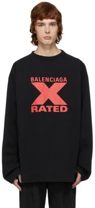 Balenciaga Black X Rated Sweatshirt