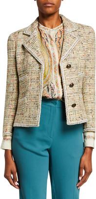 Etro Tweed Knit Cardigan Jacket