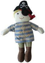 Powell-Craft Powell Craft Soft Pirate Rag Doll Baby Rattle Toy - Suitable for all ages and a lovely gift by Powell Craft