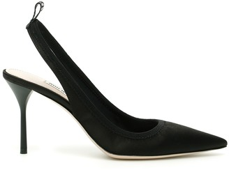 Miu Miu Stretch Satin Slingbacks