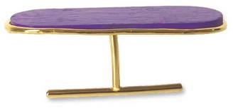 Nathnit Aptera Double Ring Vermeil Gold Purple