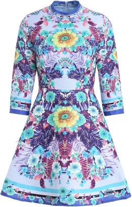 Couture Comino London Flower Fusion Skater Dress