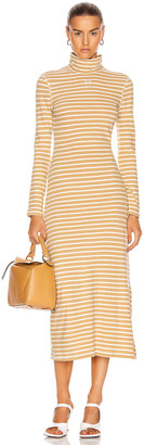 Loewe Stripe High Neck Jersey Dress in Beige | FWRD