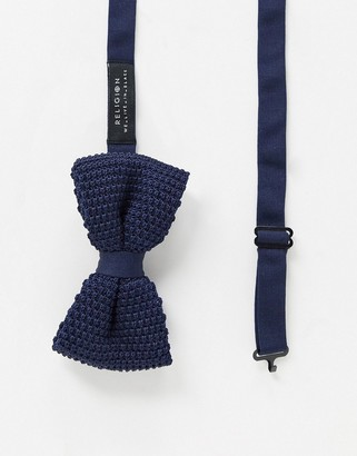 Religion knitted bow tie
