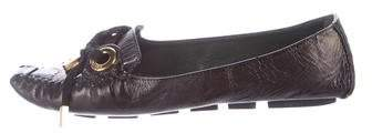 Marc Jacobs Crushed Leather Driving Flats