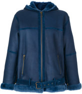 Giorgio Brato hooded jacket - women - Lamb Skin/Lamb Fur - 40
