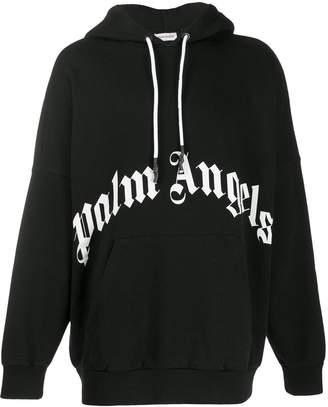Palm Angels oversized logo hoodie