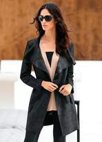 Heine Faux Leather Coat