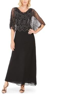 J Kara Embellished-Top Gown