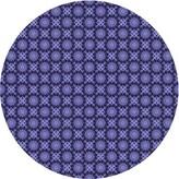 Blue Area Geometric Rug East Urban Home Rug Size: Round 5'