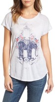 Lucky Brand Women's Elephant Graphic Tee