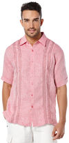 Cubavera 100% Linen Short Sleeve Tuck Shirt