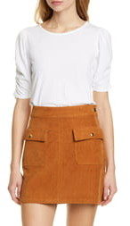 Frame Ruched Sleeve Top