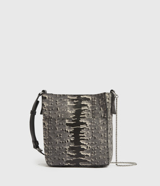 AllSaints Adelina Small North South Leather Tote Bag