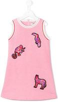 MSGM animal appliqué dress - kids - Cotton - 12 yrs