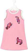 MSGM animal appliqué dress - kids - Cotton - 8 yrs