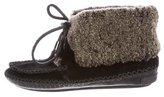 Tory Burch Suede Moccasin Booties