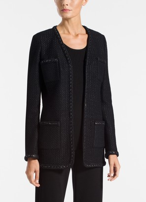 St. John Adina Knit V-Neck Jacket