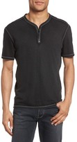 John Varvatos Men's Snap Short Sleeve Henley