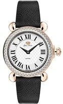 Glam Rock Women's Vintage 34mm Leather Band Swiss Quartz Watch Gr28050ds-Bk