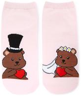 Forever 21 FOREVER 21+ Wedding Bears Ankle Socks