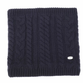Anjuhopa Snood winter women cable knit scarf knitted neck warmer thermal Fleece lined Classic style Grey