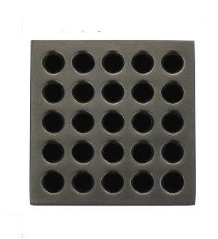 Ebbe America Square Shower Grate, Antique Pewter