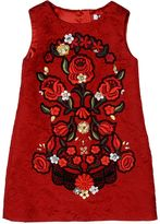 Dolce & Gabbana Embellished Cotton Brocade Dress