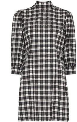 Ganni Check Pattern Mini Dress