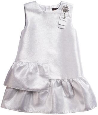 Imoga Jill Bow Ruffled Shimmer Dress